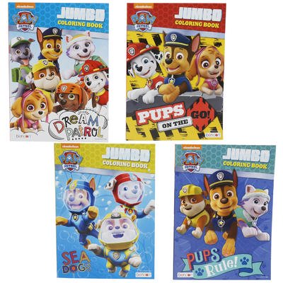 Paw Patrol Jumbo Coloring Book - Asst, 96pp-2 PCS (Jumbo Halloween Coloring Pages)