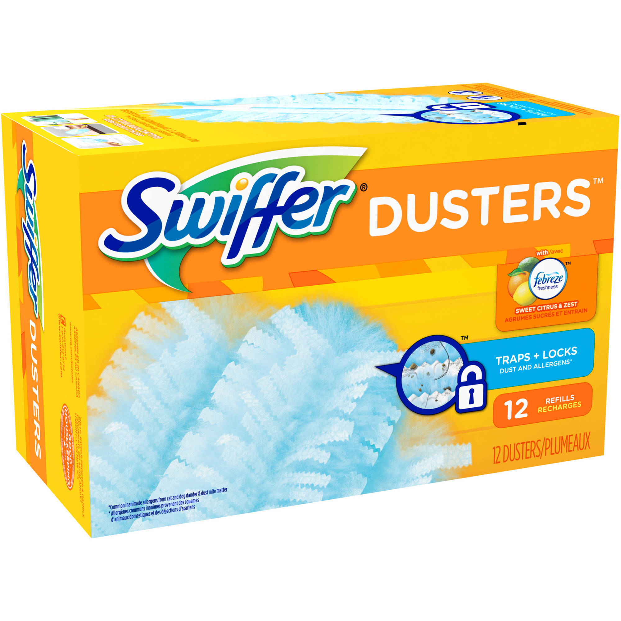 Swiffer Dusters Refills, Citrus & Zest (choose your size)