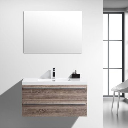 Foundry Select Bolivia 41 Wall Mounted Single Bathroom Vanity Set With Mirror