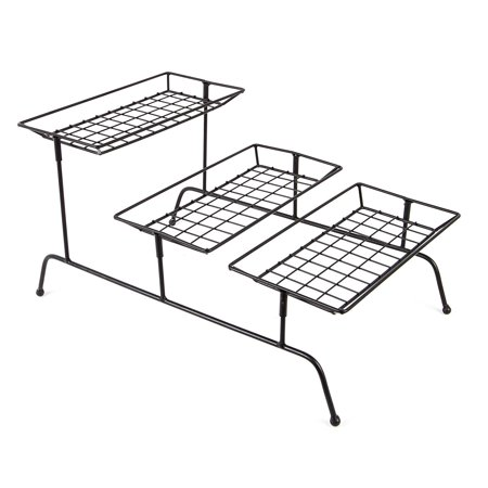 JMiles UH-SR265 Three-Tiered Serving Rack - Three Tier Countertop Tabletop Shelf for Display and Serving (3 Shelf Countertop)