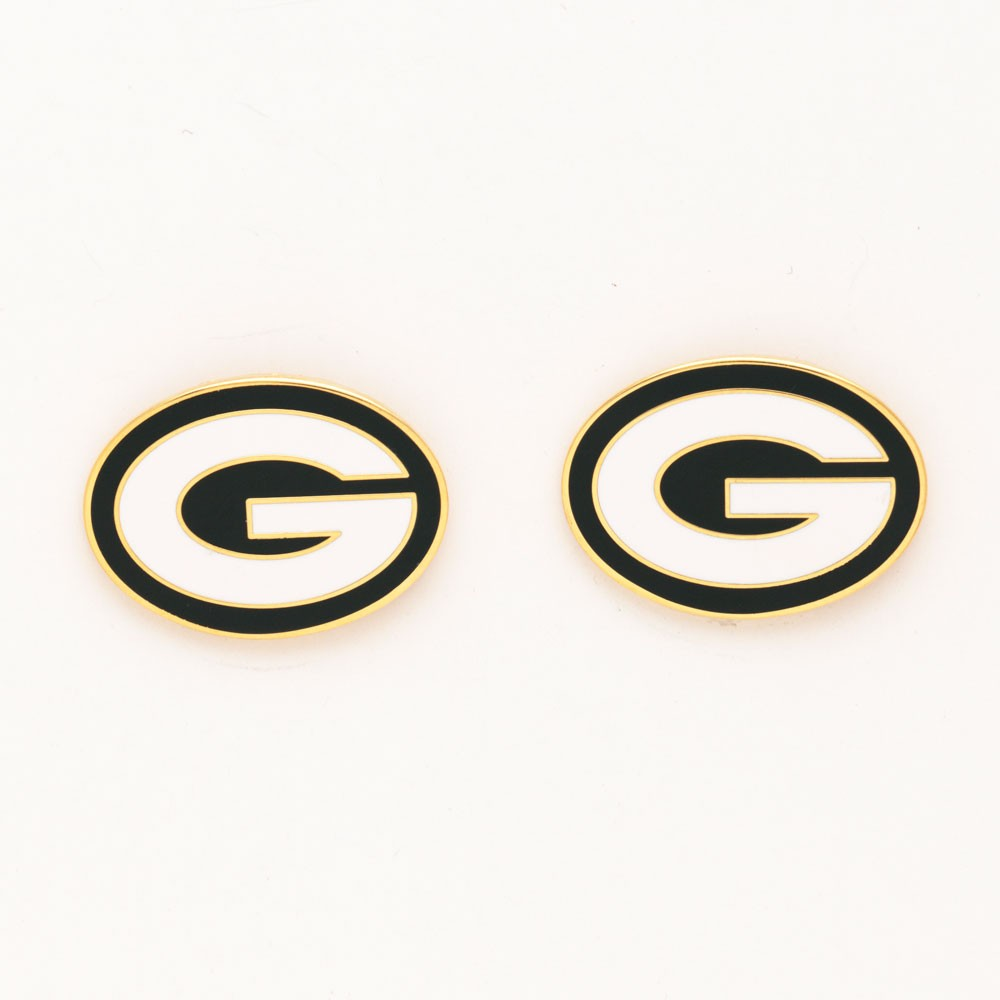 Green Bay Packers Official NFL 1 inch  Earrings by Wincraft