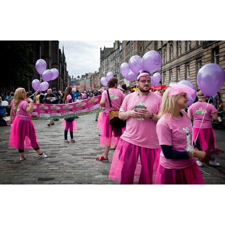 - Canvas Print Street Performers Performers Edinburgh Fringe Actors Stretched Canvas 10 x 14