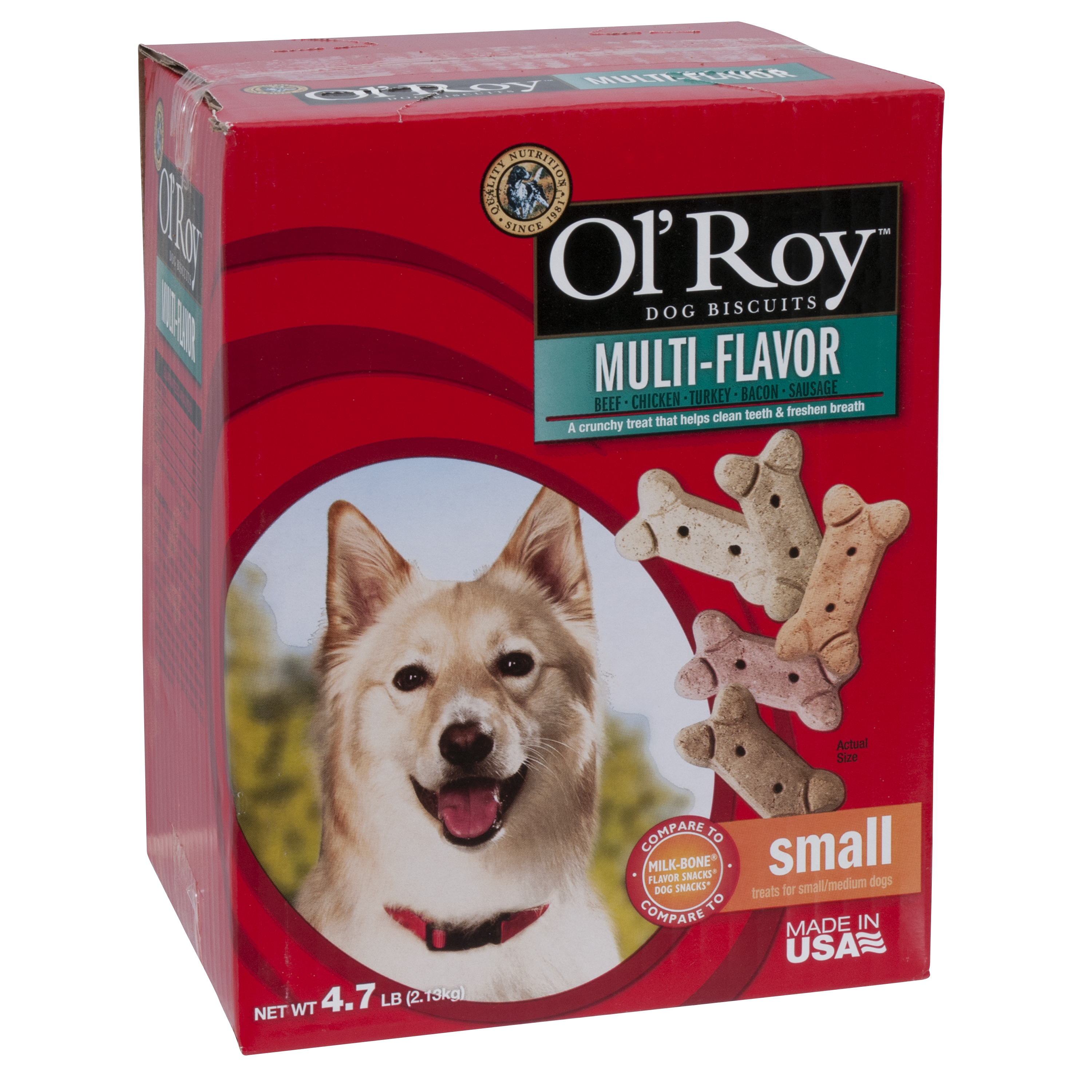 Ol' Roy Multi-Flavor Biscuits Small Breed Dog Treats, 4.7 Lb