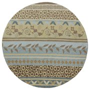 Kaleen Rugs Fiesta Blue Indoor/ Outdoor Stripes Rug (5'9 Round)