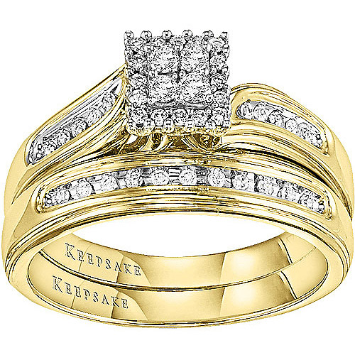 Keepsake After All 1 4 Carat T.W. Diamond 14kt Yellow Gold Bridal Set by