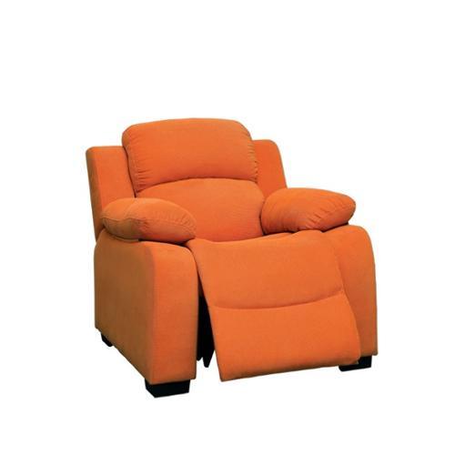 Furniture of America Dara Kids Recliner in Orange