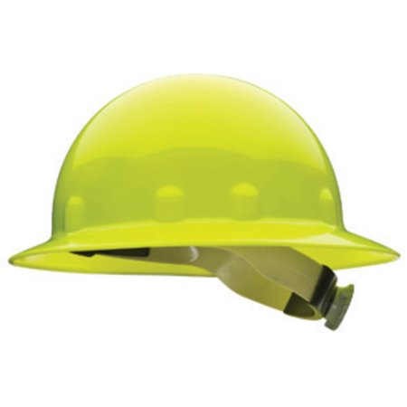 Fibre-Metal by Honeywell Yellow E1 Thermoplastic Full Brim Hard Hat With 8 Point Ratchet Suspension