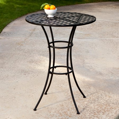 - Belham Living Capri Wrought Iron Bar Height Bistro Table by Woodard