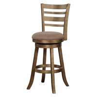 Linon Southern Wood Swivel Bar Stool, 29 inch Seat Height