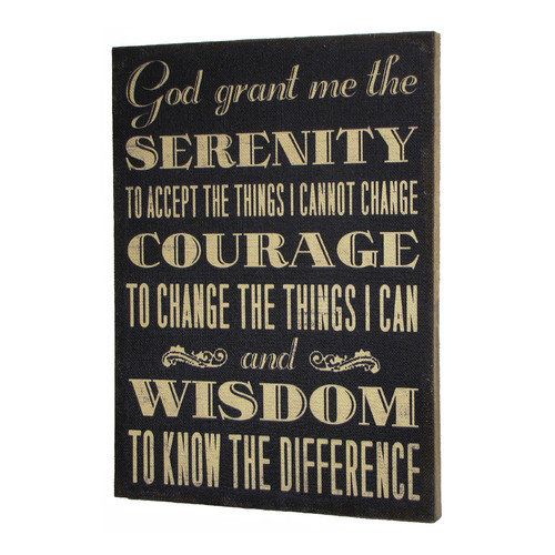 Wilco Home Inspire Me''The Serenity Prayer'' Framed Textual Art