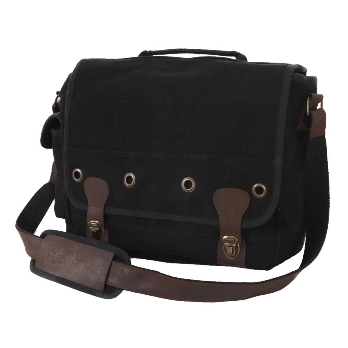 (Price/EA)Rothco 9239 Canvas Trailblazer Laptop Bag-Black