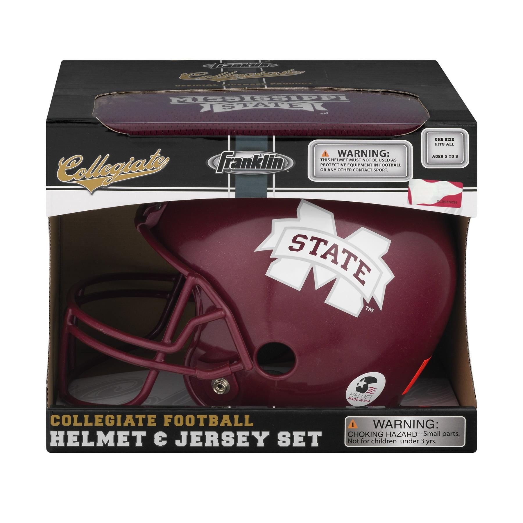 Franklin Collegiate Football Helmet & Jersey Set Mississippi State, 1.0 CT