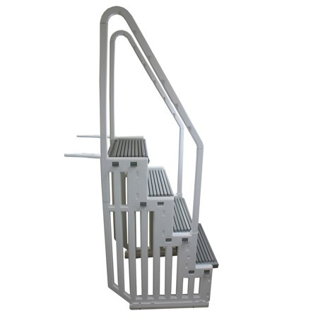 New confer step 1 above ground swimming pool ladder heavy duty step system entry for Heavy duty swimming pool ladders