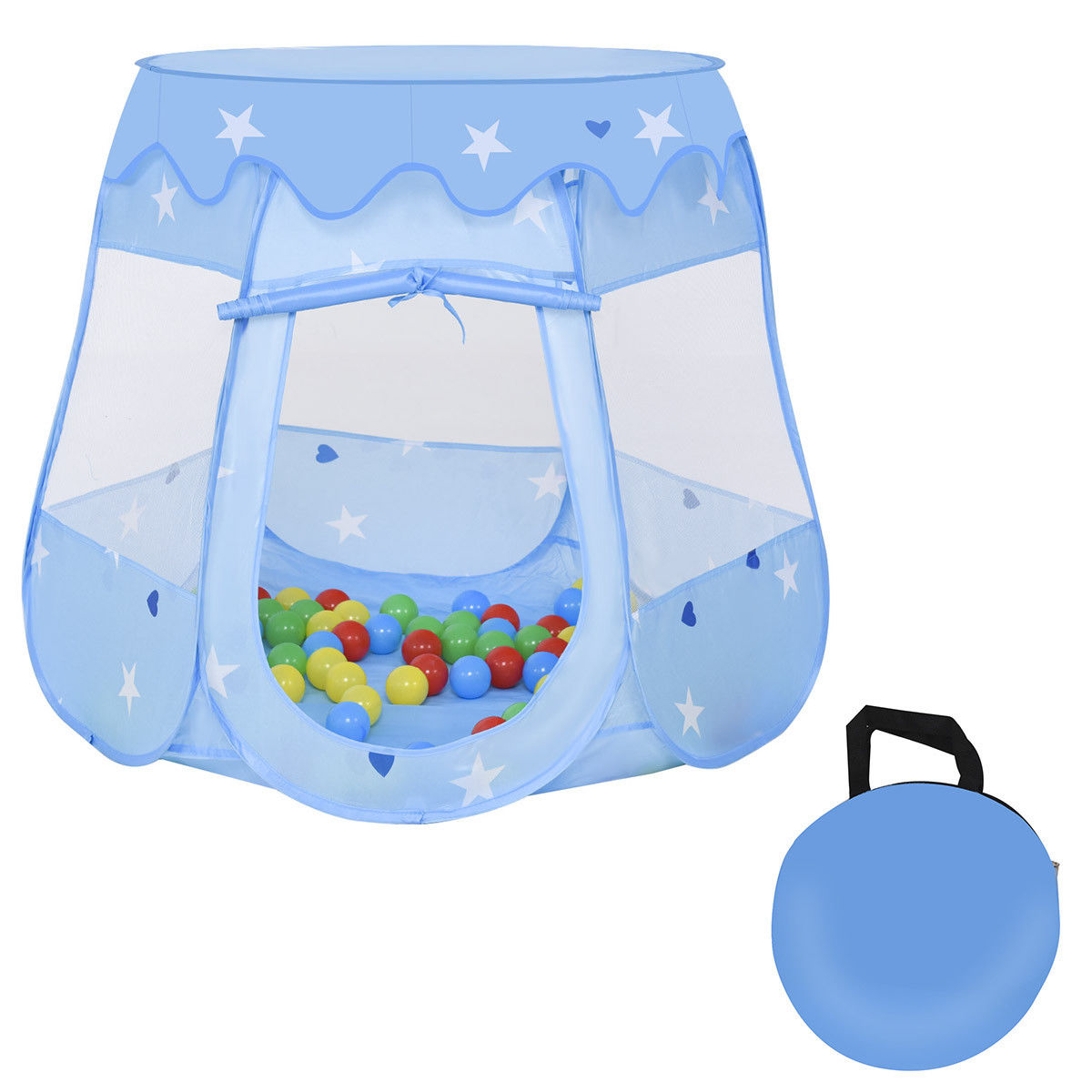 Costway Kids Princess Play Tent Playhouse Tent Toddler Toys In/Outdoor w 100 Ocean Balls