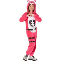 InSpirit Designs Fortnite Zipster Cuddle Team Leader One-Piece Costume for Children, Features Hood and Belt