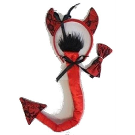Halloween Wholesalers Devil Costume Accessory Kit (Head band, Tail, Bow Tie)