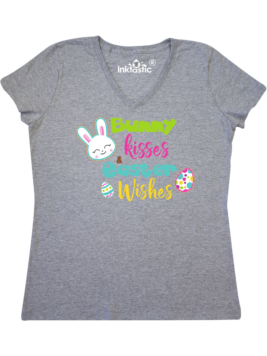 inktastic Easter Wishes Bunny Kisses Toddler T-Shirt