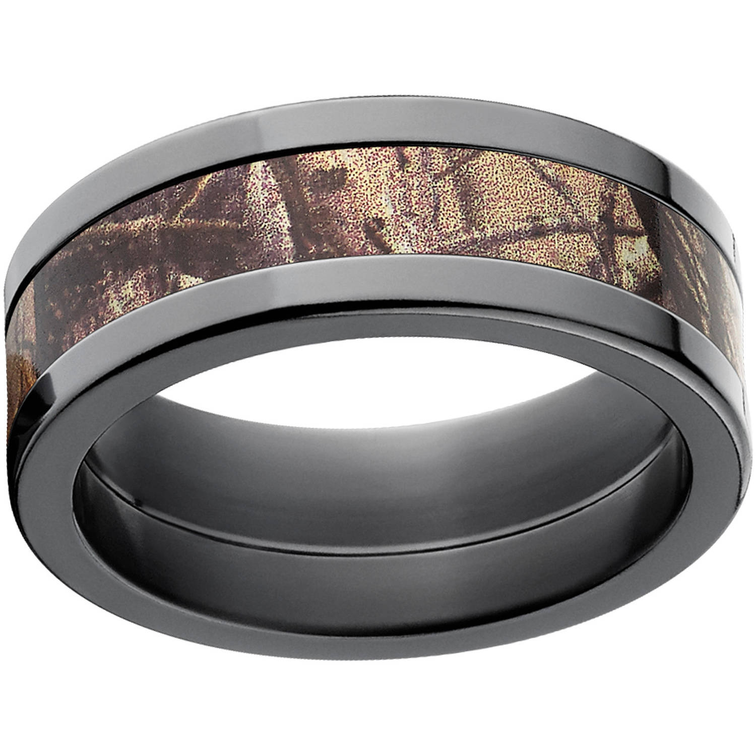 realtree ap men's camo 8mm stainless steel wedding band with