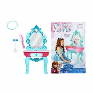 Disney Frozen - Frozen Anna and Elsa Crystal Kingdom Vanity with Accessories - Lights and Sounds - Over 3 Feet Tall…
