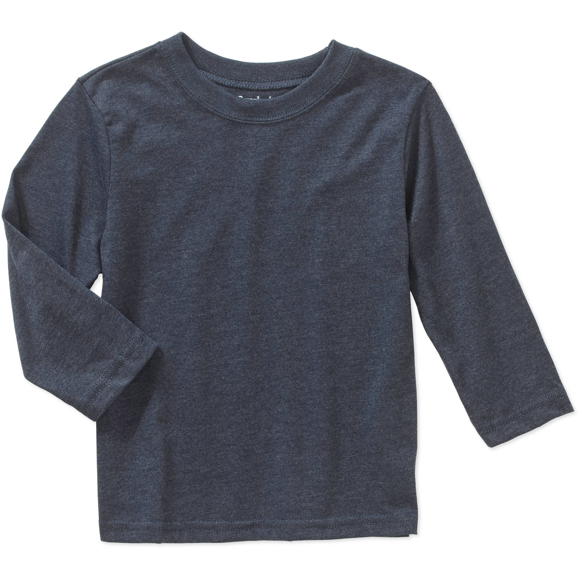 Garanimals Baby Toddler Boys' Long Sleeve Solid Heather Tee Shirt