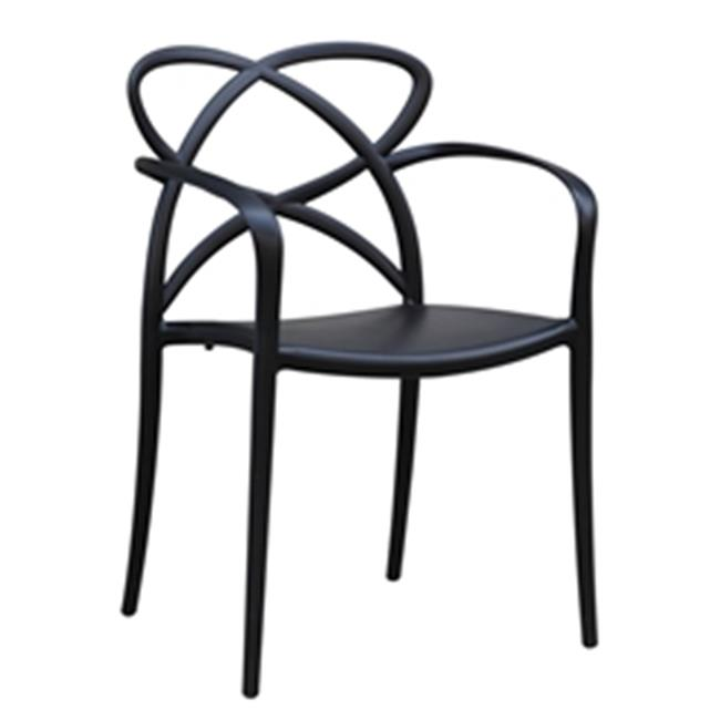 Fine Mod Imports FMI10157-black Script Dining Chair, Black