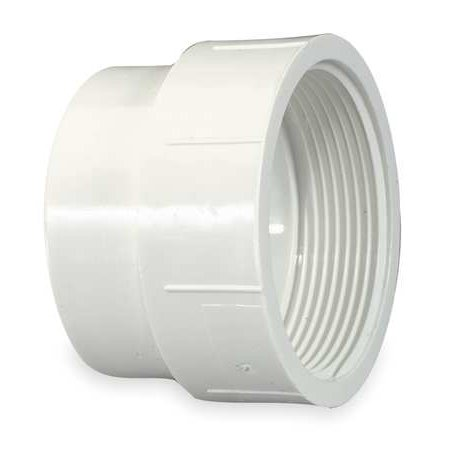 - MUELLER INDUSTRIES Fitting Cleanout Adapter,PVC,2 In 1WKG1