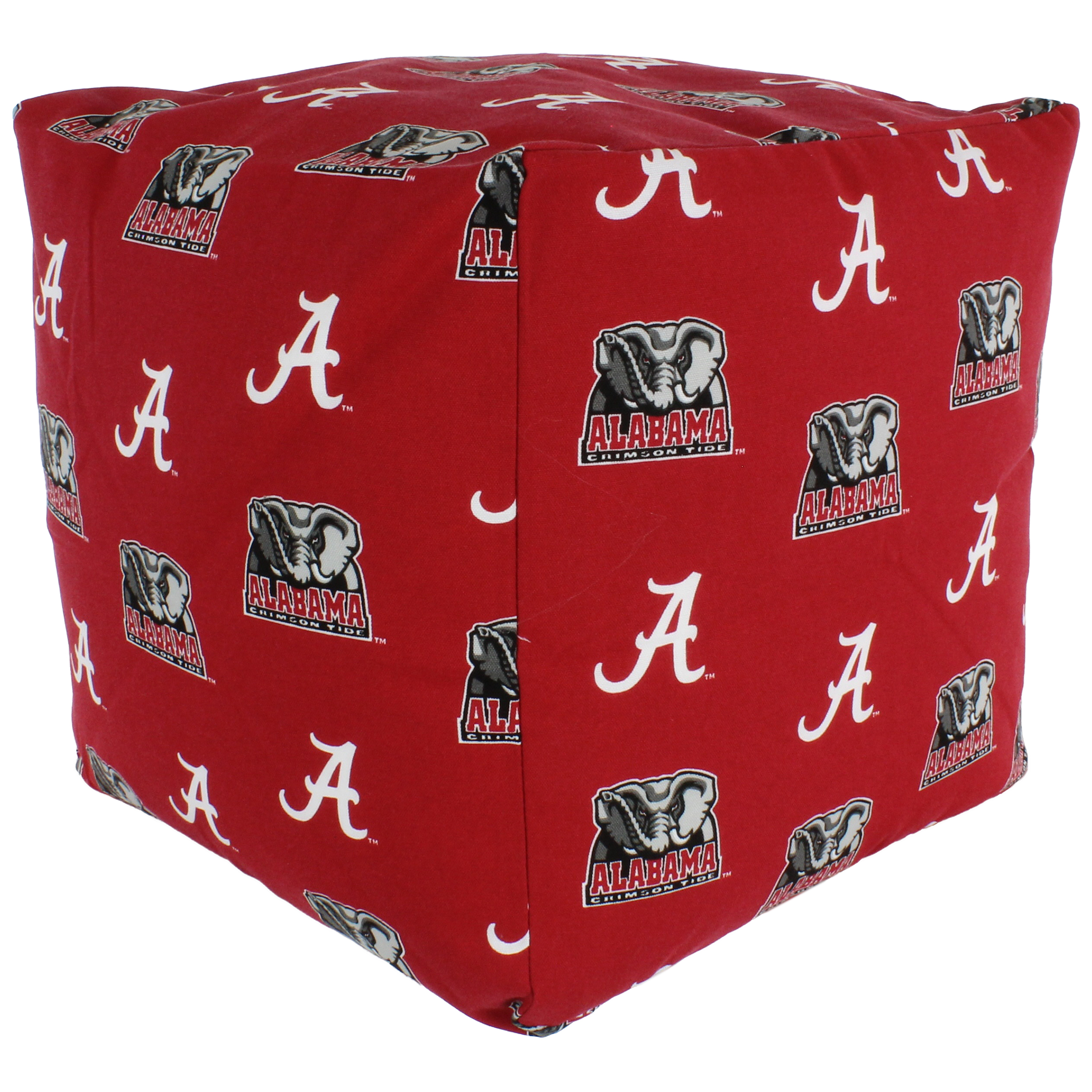Surprising College Covers Fan Shop Alabama Crimson Tide Cube Cushion 18 X 18 In Ibusinesslaw Wood Chair Design Ideas Ibusinesslaworg
