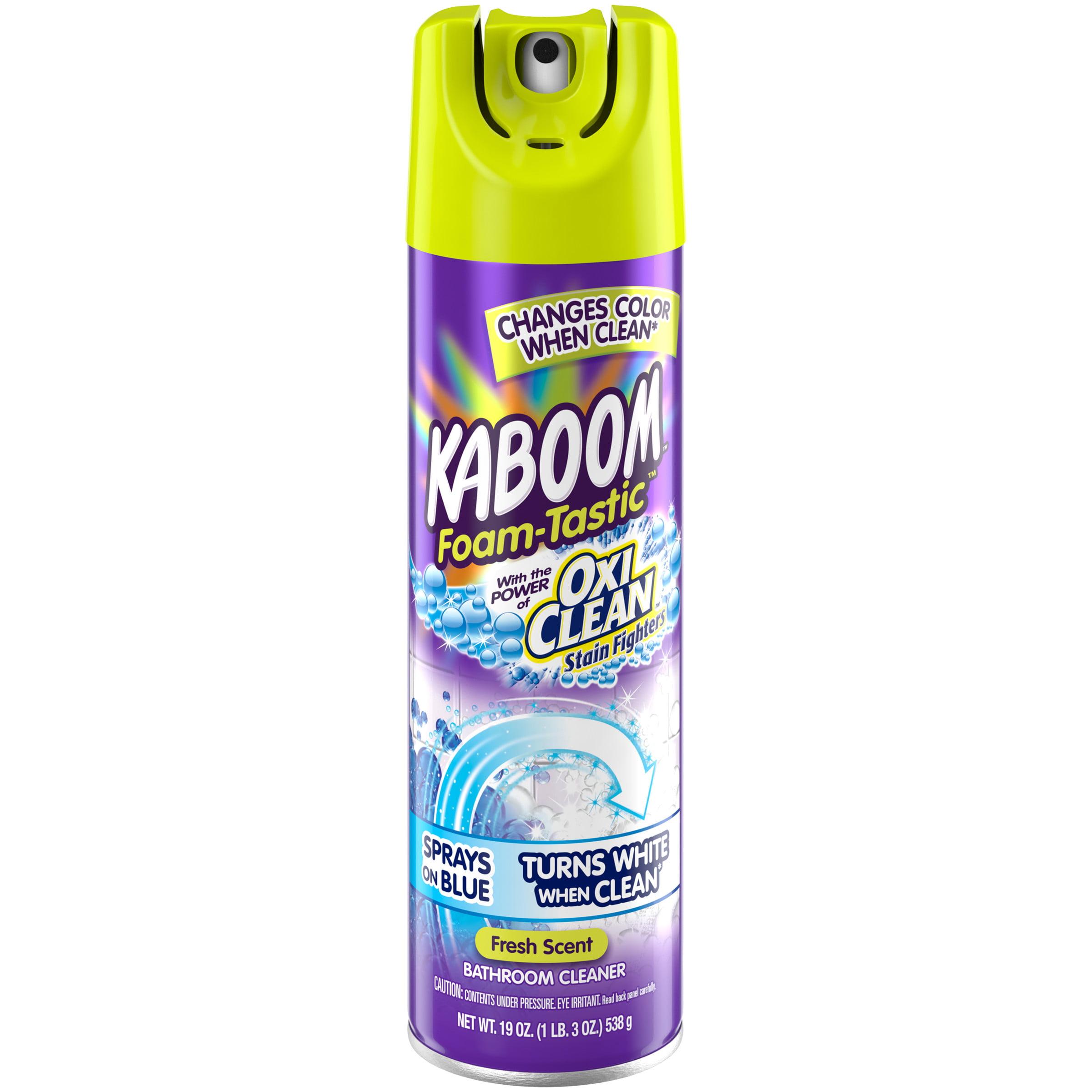 Kaboom Foam Tastic With Oxiclean Fresh Scent Bathroom Cleaner 19 Oz Walmart Com Walmart Com