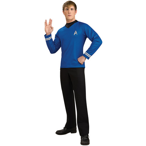 Deluxe Star Trek Blue Shirt Adult Halloween Accessory