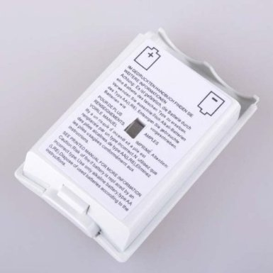 Wireless Secure Controller Battery Storage Cover Compatible With Xbox 360 -  White