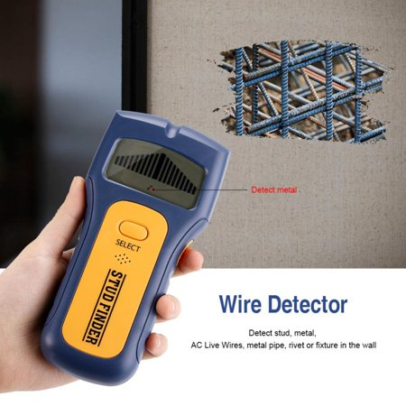 Hilitand 1pc Stud Wood Wall Center Finder 3 in 1 Metal/Voltage/Stud Detector Scanner LCD Metal AC Live Wire Detector Tool Handheld, Wire Finder, Wood