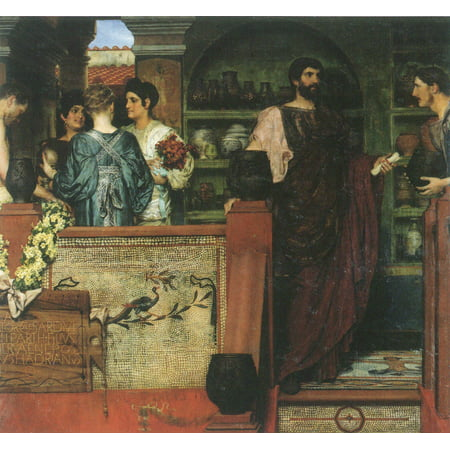 Framed Art for Your Wall Alma -Tadema, Sir Lawrence - Hadrian visited a Romano -British pottery 10 x 13 Frame