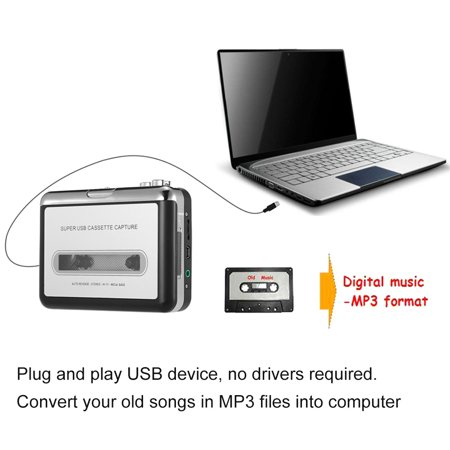 ezcap USB Cassette Capture Cassette Tape-to-MP3 Converter into Computer Stereo HiFi Sound Quality Mega Bass Audio Music Player with Earphone - image 6 of 7