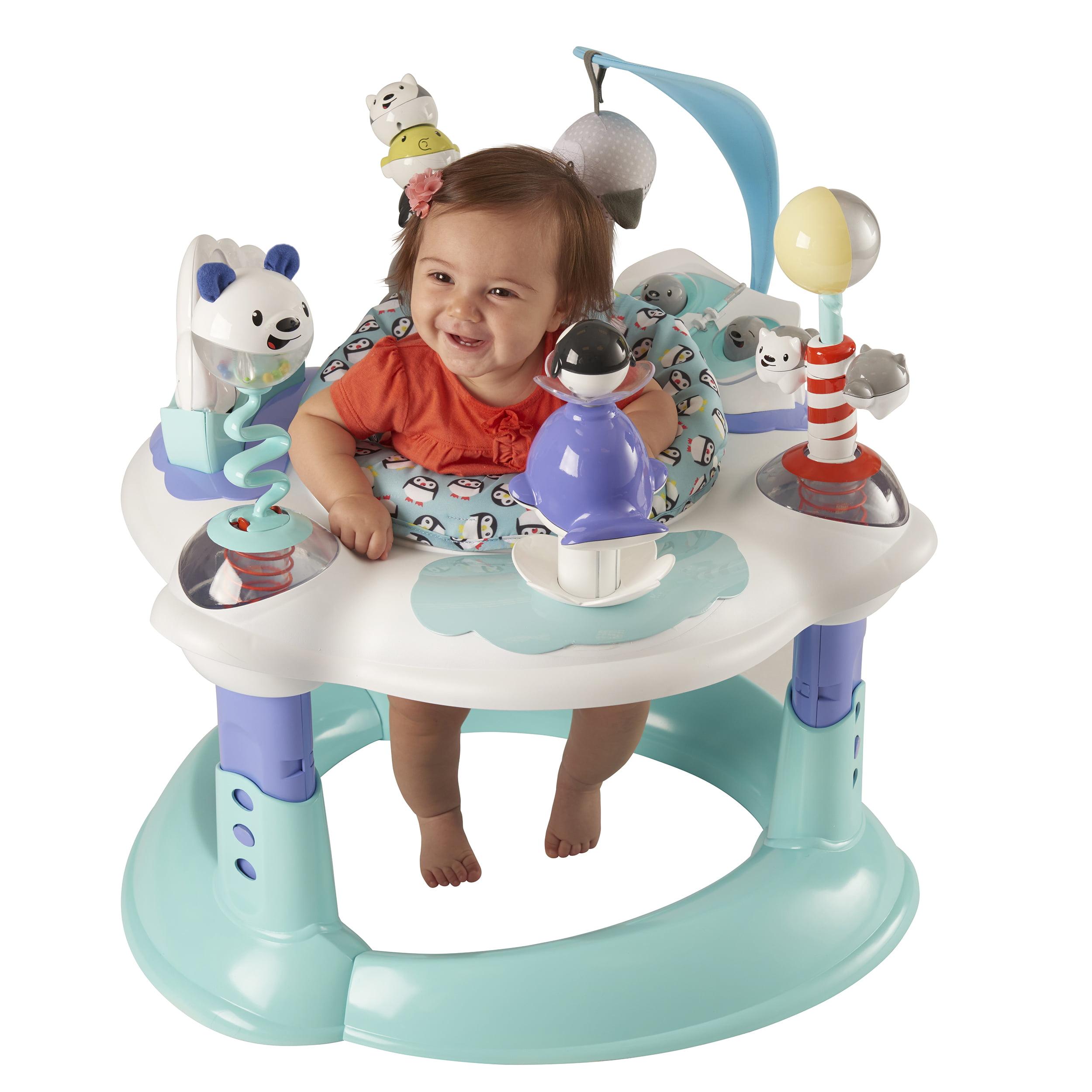 Evenflo Baby Exersaucer Bounce Learn Polar Playground 32884194957
