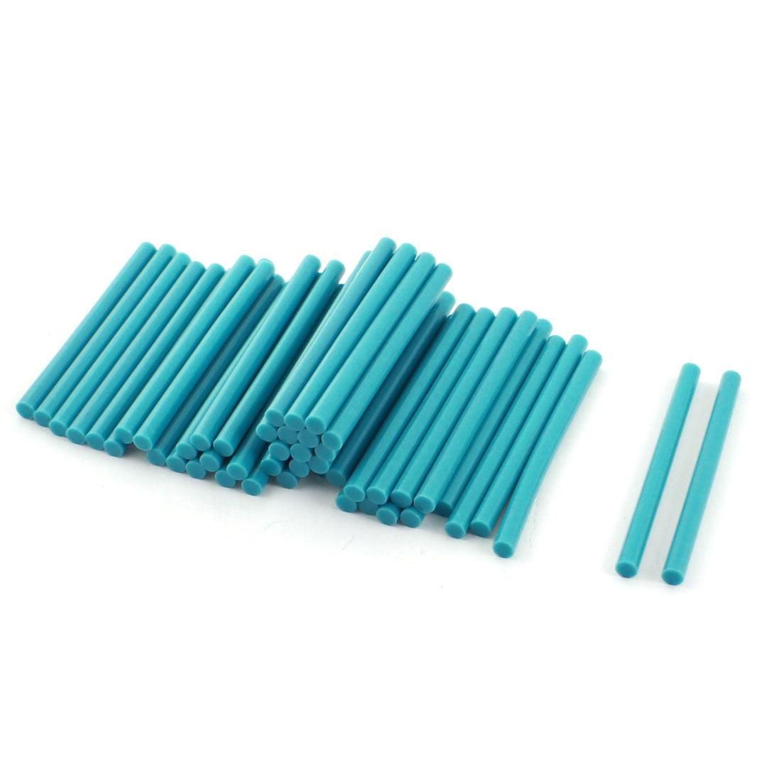 50 Pieces Teal Hot Melt Glue Gun Adhesive Sticks 7mm x 100mm by