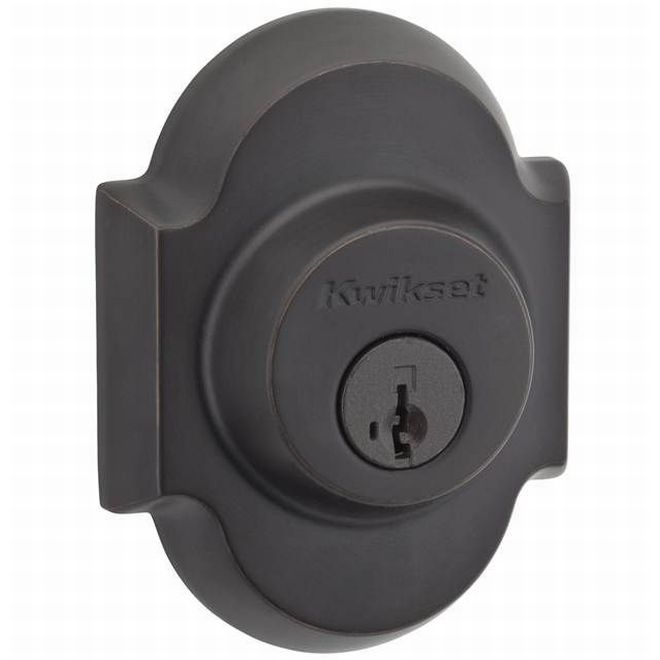 Kwikset 985AUD-11PS Austin Double Cylinder Deadbolt Smart Key Venetian Bronze Finish