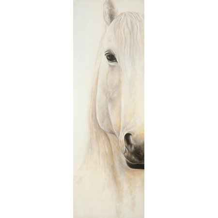 Half Portrait Of A Smiling Horse Poster Print by Atelier B Art Studio