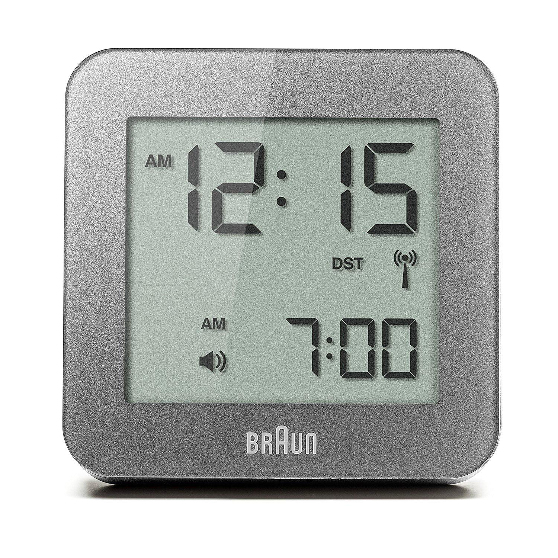 Braun BNC009GY_RC Digital Quartz Alarm Clock