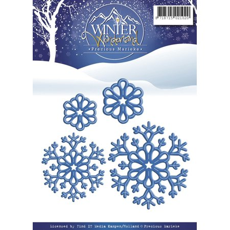 PM10051 Snowflakes Precious Marieke Winter Wonderland Die, Grey, Pretty and innovative cutting dies to help you create beautiful cards scrapbook pages and other.., By Find It Trading ()