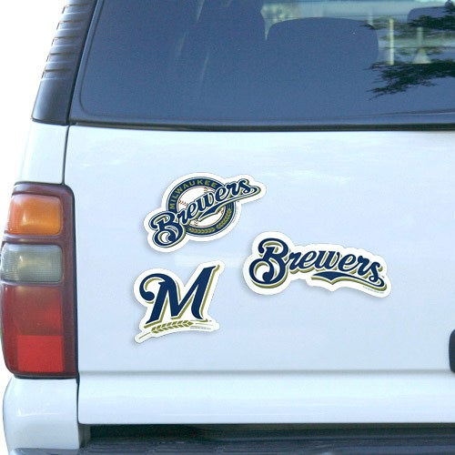 Milwaukee Brewers 12'' 3-Pack Magnet Set - No Size