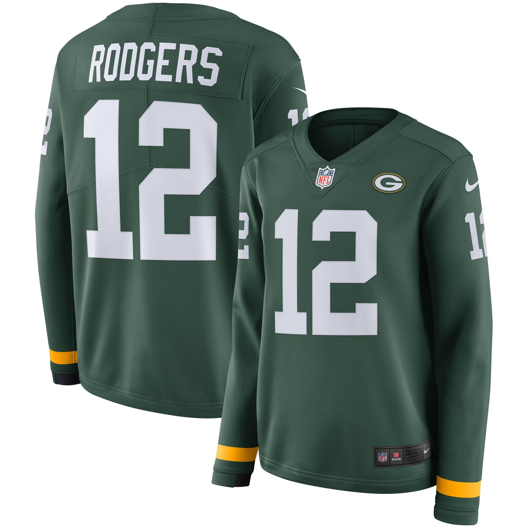 Aaron Rodgers Green Bay Packers Nike Women's Therma Long Sleeve Jersey - Green - Walmart.com