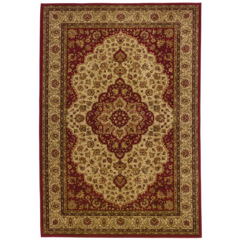 """Allure 011D1 Oriental Area Rug-Color:Red/Gold,Shape:Rectangle,Size:116.14""""Lx79""""W,Style:Traditional"""