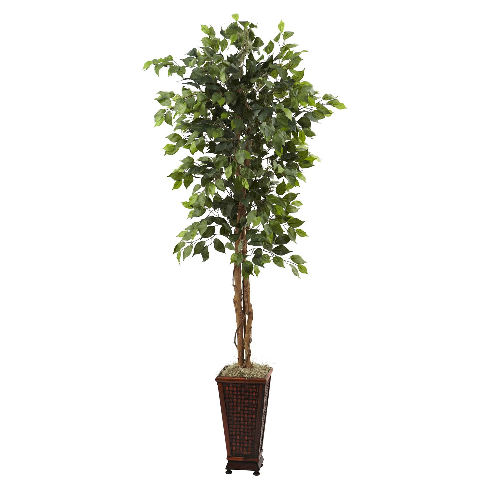 Nearly Natural 6-1/2' Ficus with Decorative Planter