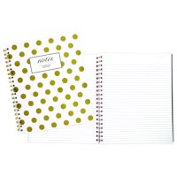 "Cambridge Fashion Hardcover Business Notebook, 80 Sheets, 9"" x 11"", Gold Dot (59014)"