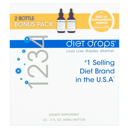 Creative Bioscience 1234 Diet Drops Appetite Suppressant Supplement, 2 Fl oz, 2
