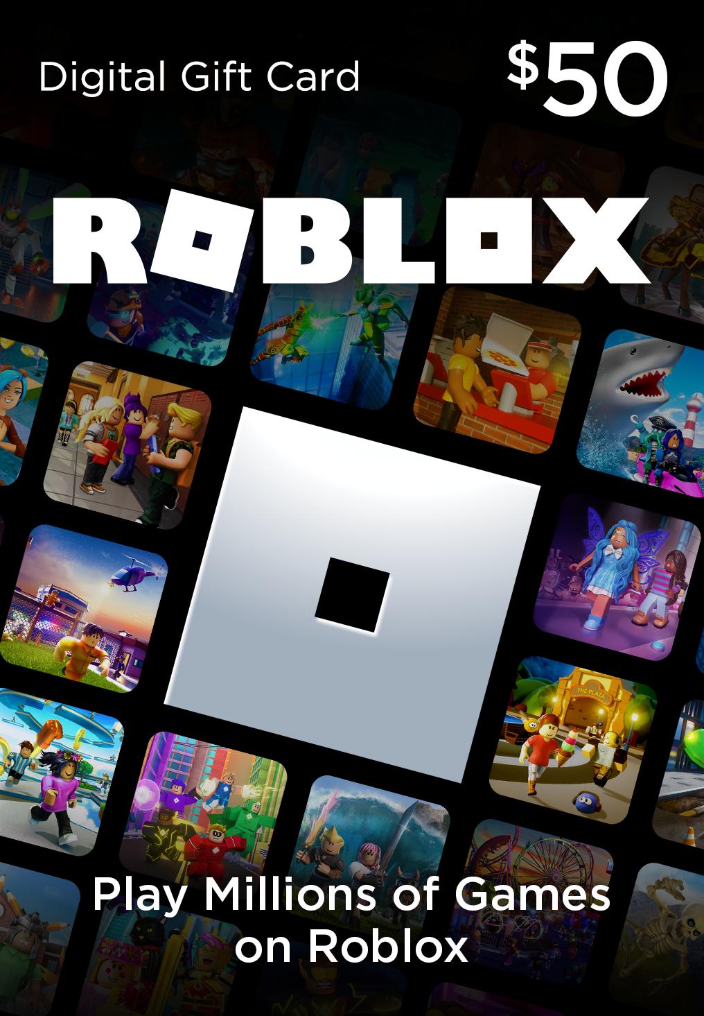 Roblox 50 Game Card Digital Download Walmart Com Walmart Com