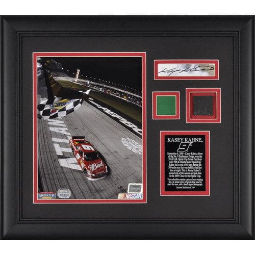 Kasey Kahne - 2009 Pep Boys Auto 500 - Framed 8x10 Photograph with Green Flag & Race Winning Tire LE of 109