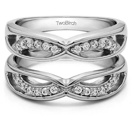 - Personalized Women's Criss Cross Anniversary Style Jacket Ring Guard