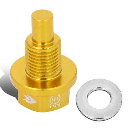 NRG Innovations NOP-200GD Aluminum M12x1.25 Magnetic Engine Oil Drain Plug Bolt for