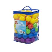Play Day 100 pack Play Balls, Multi-colored